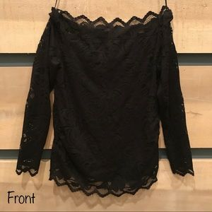 *NWT* H&M Mama Off the Shoulder Black Lace Top